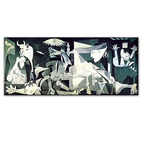 Picasso Guernica Pinturas de lienzo famosas Reproducciones de cuadros de pared Impresión en lienzo Impresiones de arte Obra de arte para sala de estar 70x140cm (27'x55') Sin marco