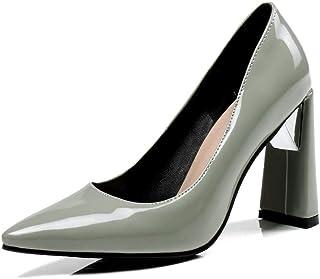BalaMasa Womens APL11999 Pu Block Heels