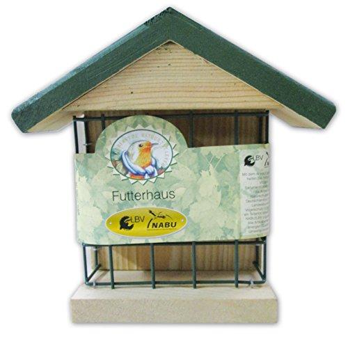 """CJ Wildlife 350551015 Wildvogel-Futterhaus Wand-Energieblockhalter \""""Ohio\"""" aus FSC-Holz - empfohlen vom NABU und dem LBV"""