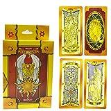 Shhjjyp Cardcaptor Sakura Clearcard Cosplay Sakura Kinomoto Magic Clow Card 52 Piezas Tarot Juego Completo Card Captor Sakura Cosplay Props