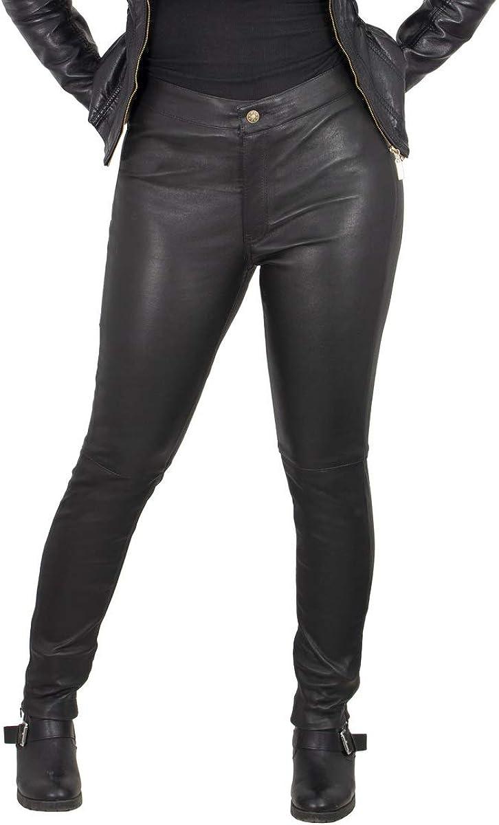 Milwaukee Leather MLL6690 'Sandy' Women's Black Lambskin Stretch Leather Pants