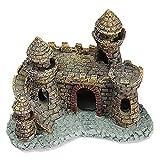 HBDY Adorno de resina para acuario, decoración artificial del mundo de los tanques de la isla de piedra, castillo para acuario, paisaje, estatua de pecera