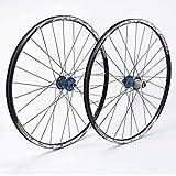 VTDOUQ Juego de Ruedas de Bicicleta MTB 26'27,5' Freno de Disco de Rueda de aleación Ligera de Doble Pared 8 9 10 Buje de Carbono de 11 velocidades F2 R4 Palin liberación rápida 1670g