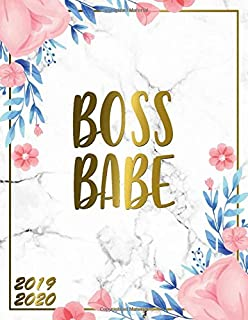 Boss Babe 2019-2020: Floral Marble & Gold 2019-2020 Academic Planner | Weekly Student Organizer, Calendar & Agenda with Inspirational Quotes, To-Do's, Vision Boards and More.