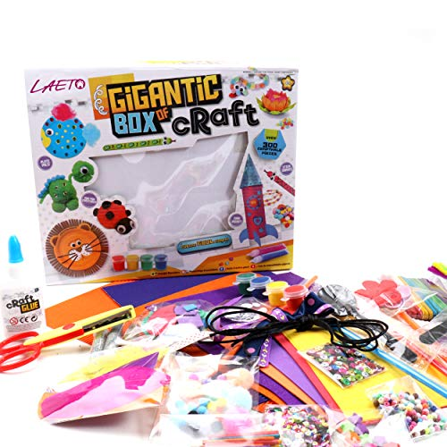 Laeto Gigantic Box of Craft for Kids and Children Aged 8 + Let the Imagination and Creativity Flow with over 300 pieces