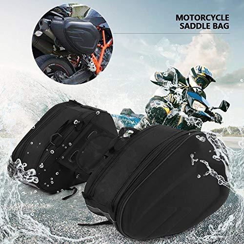 Bolsas de sillín de moto, bolsa de asiento trasero de motocicleta universal a prueba de agua Bolsas de maletas de motocicleta Bolsa de viaje para montar en casco Bolsa de cola con funda para lluvia Ne