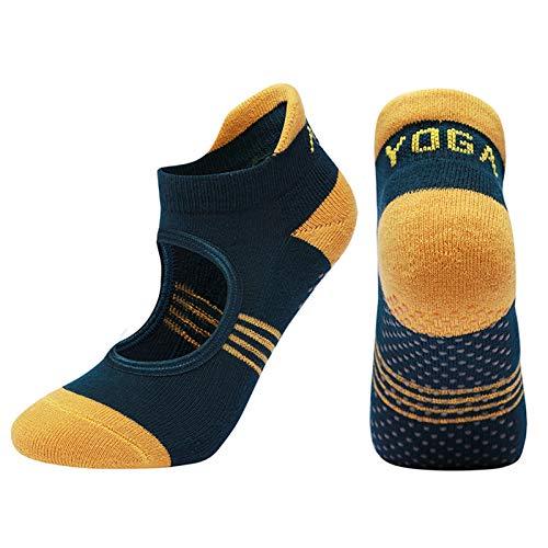 Witou Mujeres Pilates Calcetines Toalla Towel Towel Transpirable Anti resbalón Calcetines de Yoga Algodón Ballet Dance Sports Socks, Comodidad y Ocio (Color : Green)