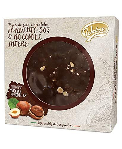 Torta di solo cioccolato fondente & nocciole intere con nocciole piemontesi