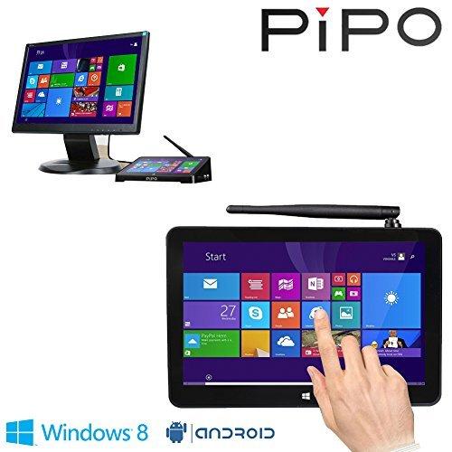 PIPO X8 Mini PC Windows8.1 Android4.4 Dual Boot Intel Atom Z3736F Quad Core Mini Computer Box 7″Tablet…