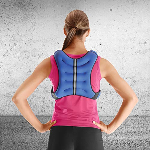 Tone Fitness HHWV-TN012 Weighted Vest, 12 lbs, Blue