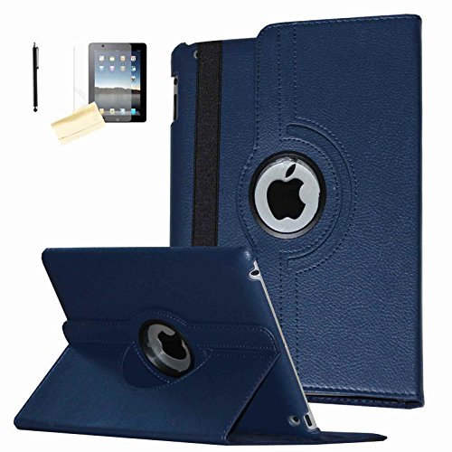 JYtrend iPad Air Case (2013 Released), (R) Rotating Stand Smart Case Cover Magnetic Auto Wake Up/Sleep for iPad Air (Air 1) A1474 A1475 A1476 (Royal Navy)