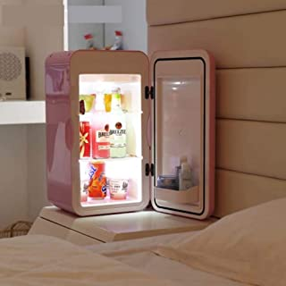 Household 15L Mini Refrigerator, Compact Fridge for Skincare, Breast Milk, Foods, Medications, Bedroom and Travel, Pink