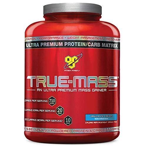 BSN TRUE-MASS Weight Gainer, Muscle Mass Gainer Protein Powder, Cookies & Cream, 5.82 Pound