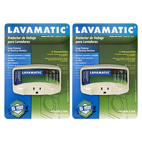 Lavamatic WS-10521 Electronic Surge Protector for Washing Machine – Front Top Load Washers ((2) Pieces)