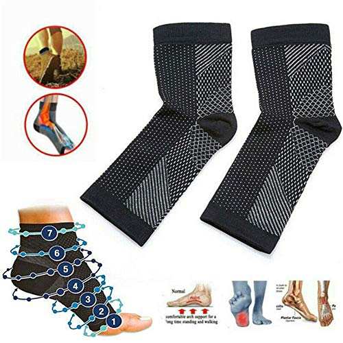 Dr. Sock Beruhigungssocken Anti Fatigue Compression Fuß Sleeve Support Brace Sock für Plantar Fasciitis Achilles Knöchel Anti Fatigue (3 Paare) (S/M)