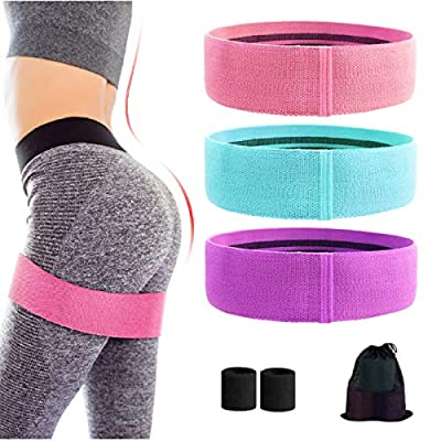 Rozeda Booty Bands, Resistance Bands for Legs and Butt, Workout Bands Exercise Bands with Non-Slip, Fabric Resistance Loops Hip Thigh Glute Wide Fitness Bands for Women/Men(Set of 3)