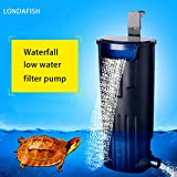 LONDAFISH Filtre Submersible d'eau de Filtre de Tortue de Mute pour la Filtration de réservoir de...