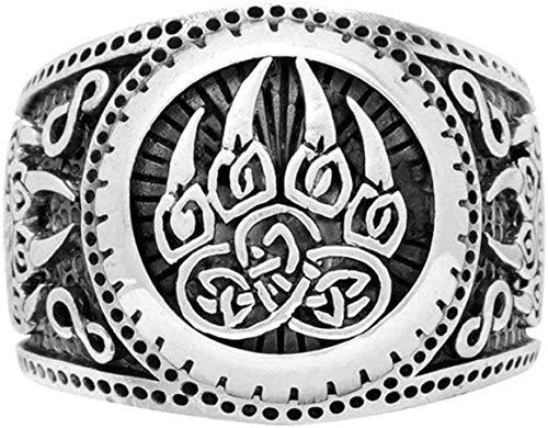 dfhdrtj Notable 1PC Plata Oso Pata Viking Anillos para Hombre Novio Regalo Nórdico Joyería Celtics Amuleto Anillos Antiguo - 5