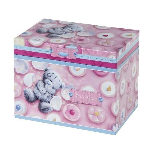 Softly Drawn Me to You Bear Mums Recipe Box by Carte Blanche
