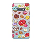 Samsung Galaxy S10e Case,Blingy's New Fun Food Style Transparent Clear Soft TPU Protective Rubber Case for Samsung Galaxy S10e (Various Donuts)