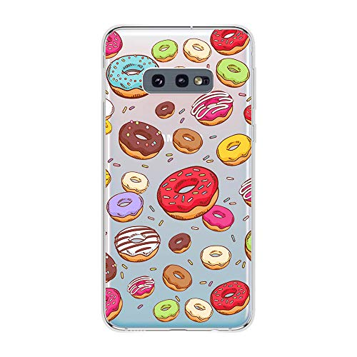 Samsung Galaxy S10e Case,Blingy's New Fun Food Style Transparent Clear Soft TPU Protective Case Compatible for Samsung Galaxy S10e (Various Donuts)