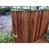 LSXIAO bambù Recinzione Roll Giardino Recinzione Pannello Scudo Schermo per La Privacy Naturale Resistente alle Intemperie Filo Zincato Connessione per Il Cortile, Terrazza, Pergolati
