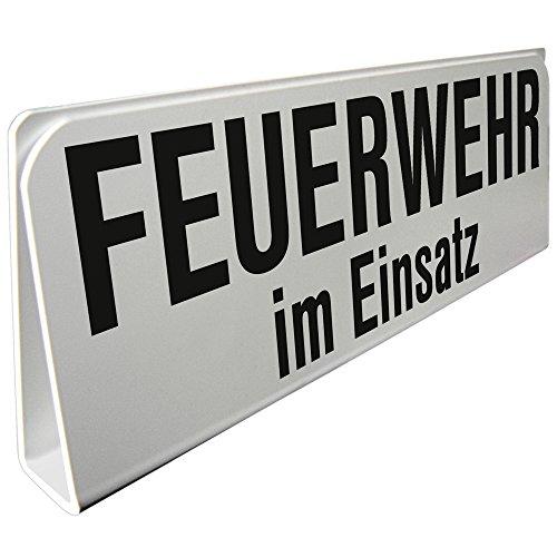 Klemmschild fuer Sonnenblende Auto - Feuerwehr im Einsatz - 309504 Gr. ca. 29,5cm x 10cm x 2,5cm
