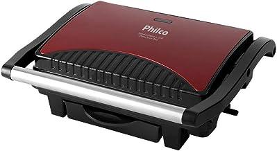 Sanduicheira e grill, Press inox red, 1100w, Vermelho, 220V, Philco
