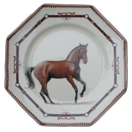 Faïencerie de Niderviller ~ Assiette Plate Ronde Chantilly faïence - Lot de 4