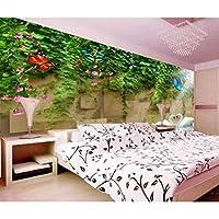 写真の壁紙3D立体空間カスタム大規模な壁紙の壁紙 フラワーヴァインスワンの壁の装飾リビングルームの寝室の壁紙の壁の壁画の壁紙テレビのソファの背景家の装飾壁画-350X250cm