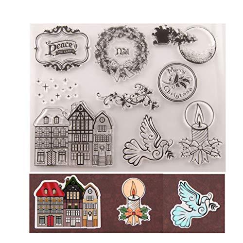 HEALLILY Huis en Krans Ontwerp Stempel Voor Kaarten Maken Decoratie en Diy Scrapbooking T1605 3St