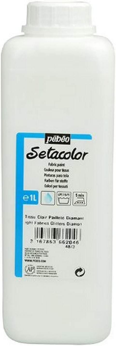 Pebeo 5% OFF Light Fabrics Glitter Paint Selling rankings Diamond Fabric Setacolor