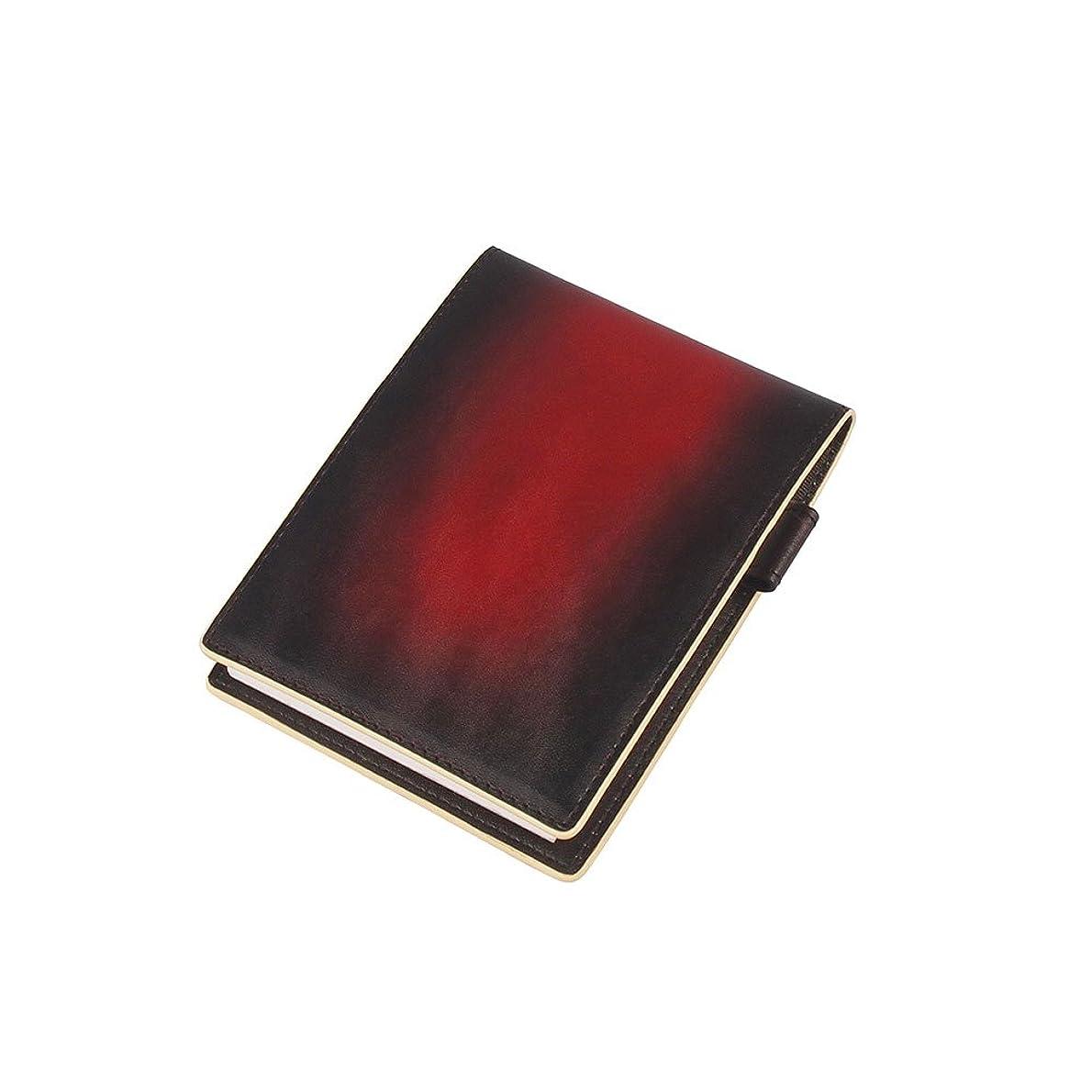 レンズコンドーム成功服部 RYU'S ONE リューズワン GG メモパッド メモ帳 カバー ホルダー No 12 B7 本革 レッド 154017-RD
