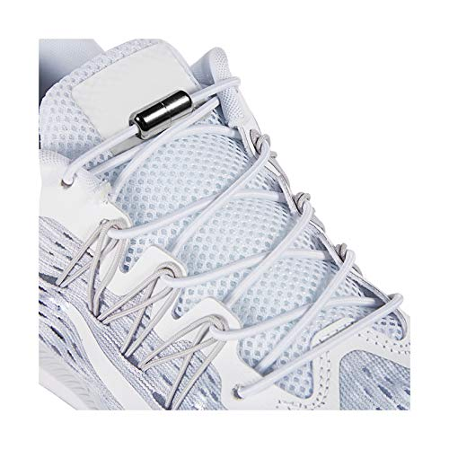 Elastic Shoe Laces - No Tie Shoelaces For All Adult And Kids Sneakers Fits Board Shoes And Casual Shoes (2 Pairs)White