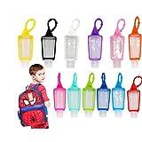 12 Juegos Botellas de Viaje de plástico, 30 ml, a Prueba de Fugas, contienen desinfectante de Manos rápidamente para niños y Familia saliente (Color Aleatorio)