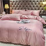funda de edredón 90,Conjuntos de tapa de seda satinada de seda - Soft Luxury Silky 4 pieza de 4 piezas Juego de edredón...