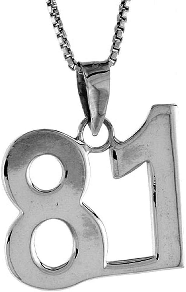 5☆大好評 Sterling Silver Number 35%OFF 81 Necklace Jersey Numbers Recovery for