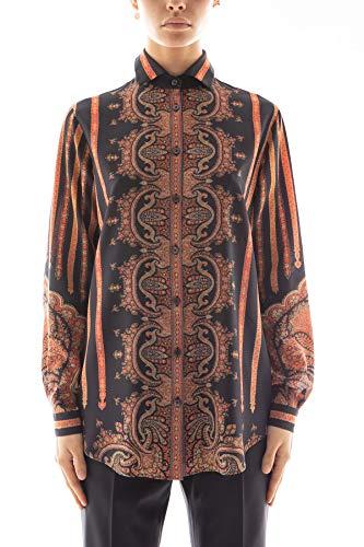 Etro Luxury Fashion Damen 190339007001 Schwarz Seide Hemd | Herbst Winter 20