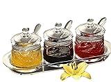 FOLOBE Premium qualità trasparente acrilico condimento set spice box con cucchiaio condim...