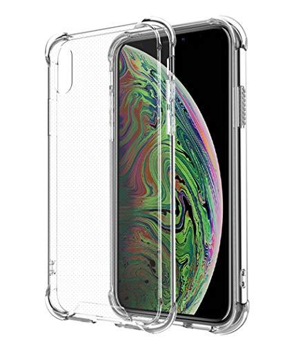 Alexcase iPhone X/Xs Hülle, Transparent iPhone X/Xs Cover , Weiches TPU Silikon mit Stoßfest Fallschutz Bumper Kratzfest Handyhülle Case für iPhone X/Xs , 5.8