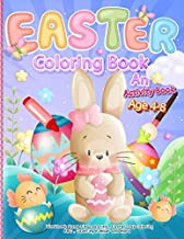 Easter Coloring Book: an activity book for kids ages 4-8 Kid Love Workbook Game For Learning , Easter Day Coloring , ABC , Counting number and more