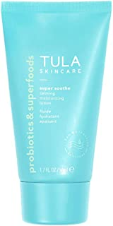 TULA Probiotic Skin Care Super Soothe Calming Moisturizing Lotion | Calming, Hydrating, Non-Irritating for Sensitive Skin with Colloidal Oatmeal, Cucumber & Ginger | 1.7 fl. oz.