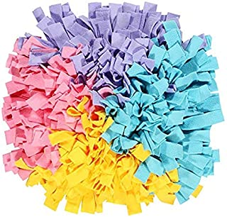 Dog Snuffle Mat Training Durable And Eco-Friendly Woven Feeding Sniffing Training Mat Interactive Puzzle Toys Pet Nose Wor...