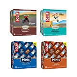 CLIF BARS AND CLIF BARS MINIS VARIETY PACK - Energy Bars and Snack Bars - Chocolate Chip, Crunchy Peanut Butter, Chocolate Brownie, Cool Mint Chocolate (2.4Oz and 0.99)z Protein Bars, 44 Count)
