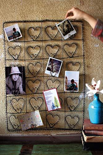 Wire Heart Twenty-Four Photo/Note/Card holder