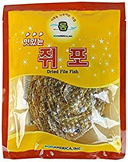 ROM AMERICA [ 1 Pound ] Korean Dried Filefish Fillet Fish Jerky 쥐포
