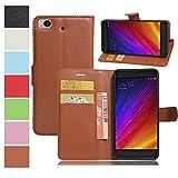 MAXKU Xiaomi Mi 5c case, Premium PU Leather Flip Cover