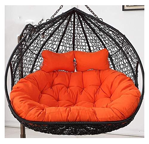 DYYD cojín de la Silla del Huevo Patio Muebles de jardín de Mimbre Cesta Colgante Columpio for Tear Presidente de Baja de Postura Cojín (Color : Orange)