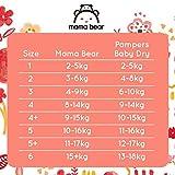 Mama Bear Ultratrockene Windeln Größe 2 (3-6 kg) – mit Luftkanälen- 168 Windeln (2 Packungen à 84 Windeln) - 6