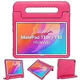 GOZOPO Funda infantil compatible con Huawei MatePad T10S/T10 2020 – Funda a prueba de golpes con soporte para Huawei MatePad T10S/T10 Case (Rosa)